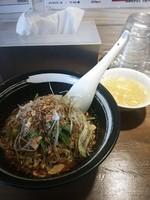 「海老香る汁なし担担麺 4辛 850円」@麺処 鳴声の写真