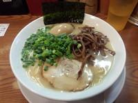 「ラーメン バリカタ(650)+味玉(100)」@博多長浜らーめん ぼたん 高田馬場店の写真