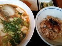「ミニうな丼とスタミナラーメンセット¥1,000」@うなぎ 大門の写真