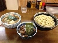 「特製つけ麺(大盛)+小豚飯」@中華そば つけ麺 村岡屋の写真