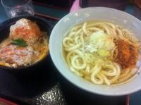 「かけうどん ミニカツ丼セット」@小諸そば 東五反田店の写真