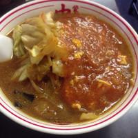 「蒙古タンメン+大盛り+野菜増し+定食」@蒙古タンメン 中本 本店の写真