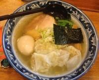 「味玉わんたんめん・塩(¥900)」@○屋製麺店の写真