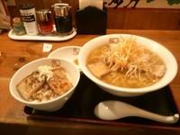 「ネギラーメン(炙り焼き豚ごはんセット)」@喜多方 坂内食堂 京都店の写真