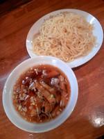 「中華つけ麺650円+デザート」@菜道楽の写真