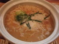 「鍋焼き魂麺(880円)(白湯)」@魂麺の写真