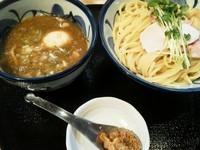 「鶏と魚介の煮玉子つけめん900円」@つけ麺 たけもとの写真