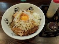「汁なしそば大盛850円」@麺や 蒼 AOIの写真
