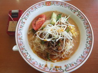 「冷やし坦々麺630円(クーポンで530円)」@餃子の王将 柏松ヶ崎店の写真