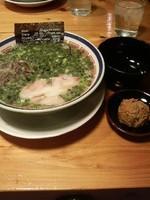 「赤オニねぎらーめん(麺バリカタ)900円」@博多長浜らーめん 田中商店の写真