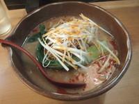 「信州味噌タンタン麺750円(3周年記念で450円)」@麺場 龍吟の写真