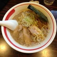 「ラーメン(太麺)650円」@ラーメン長山の写真