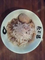 「あぶら麺+半熟味付トロッ玉子」@永斗麺の写真