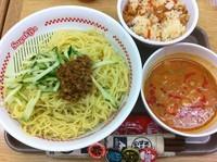 「ざる担々麺+デザートセット」@スガキヤ 近江八幡イオン店の写真