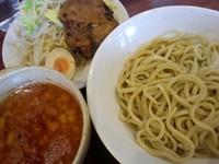 「つけ麺(680円)+雷醤(100円)」@喝力屋の写真