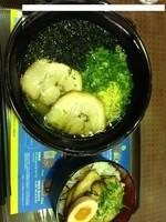 「あおさラーメン+チャーシュー丼セット」@浜楽の写真