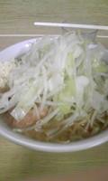 「ラーメン+うずら(ニンニク)」@ラーメン二郎 栃木街道店の写真