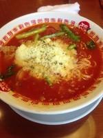 「らぁリゾセット+チーズ+替え玉」@太陽のトマト麺 護国寺支店の写真