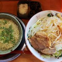 「火曜限定 二郎系つけ麺」@とんこつらーめん ひかりの写真