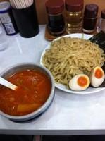 「うま辛つけ麺+餃子」@麺匠 矢向の写真