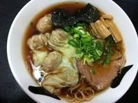 「焼き煮干しワンタンメン(醤油)」@ラーメン天天の写真