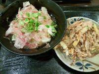 「かけうどん+かき揚げ 420円」@こだわり麺や 高松店の写真