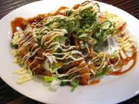 「お好み焼風餃子¥350」@らーめん 布袋の写真