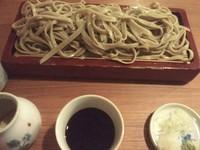 「荒挽き1100円もり汁+大盛220円」@布恒更科の写真