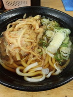 「かき揚げうどん370円」@立喰そば・うどん ふじの写真