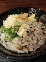 「塩豚おろしぶっかけ(中)504円」@はなまるうどん 神田駅前店の写真