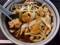 「鳥南そば(太麺)850円」@手打そば 角萬の写真