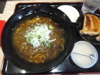 「カレーラーメン580円(こってり&味濃いめ)+にんにく無料」@麺王 柏東口店の写真
