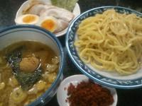 「特製つけ麺+エビ辛味」@縁者の写真