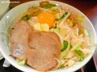 「汁なし野菜+生卵 (700円)」@ラーメンあやの写真