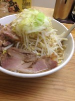「ジャイ麺(絆の日大盛 ヤサイ ニンニク 小豚)」@剛田製麺店 太田店の写真