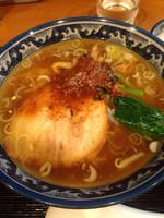 「Cセット(けんけん香麺+中華粥小)」@麺・粥 けんけんの写真