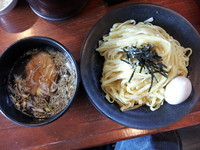 「つけ麺+たまご+餃子+半ライス」@らーめん HAGGYの写真