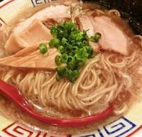 「背脂煮干しらーめん(細麺)650円」@人力俥の写真