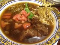「牛肉麺、麻辣担々麺(辛い方)、包包サラダ、ジャスミン茶プリン」@バーミヤン 西東京田無店の写真
