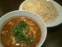 「牛すじ辛味噌つけ麺」@麺・飯 信華の写真