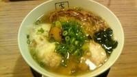 「松茸入り海老ワンタンメン ( 塩 ) ¥980」@支那そばや イオンレイクタウン店の写真