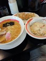 「味噌らーめんミックスランチ735円」@幸楽苑 取手店の写真