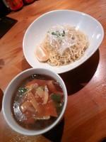 「五目あんかけつけ麺(さっぱり・大盛)+サラダ850円」@中華ダイニング 剋の写真