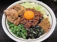 「台湾まぜそば(750円)+ど肉」@麺屋 はなび 高畑本店の写真