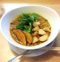 「鶏キーマカリィのトマト麺 @850円」@トマト麺 Vegieの写真