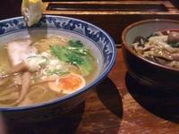「ゆず塩ラーメン+あんかけご飯」@麺屋 雄の写真