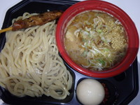 「TETSU 豚骨魚介つけめん(750円)味玉&煮込串100円」@福岡ラーメンショー2013の写真