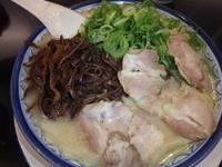 「ワンタン麺(750円)(硬め)他」@博多ラーメン しばらく 西新店の写真