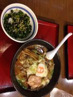 「野菜こく旨らーめん 菜めし」@8番らーめん 鯖江東店の写真