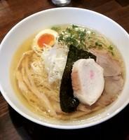 「名古屋コーチン鶏清湯SOBA 塩(限定) @850円」@麺や ハレル家の写真
